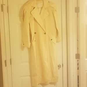 Womens cream colored trench coat